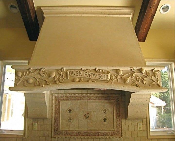 Rock Pattern Fireplace