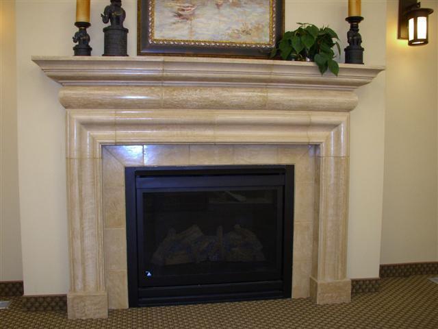 Ivory Fireplace